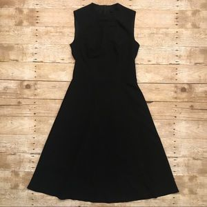 NIFE Dresses - NIFE High Neck Sleeveless Black Midi Dress